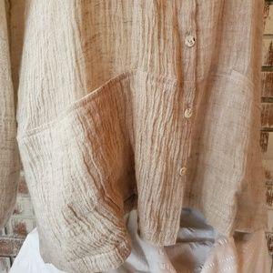 J. Jill Tops - NWT J.Jill Linen Button Down Shirt Sz M